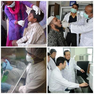 Laboratorio internacional de influenza y trabajo de vigilancia.