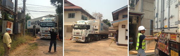 Flu vaccine arrives safely to Laos. The vaccine was flown to Bangkok from Germany, and arrived in Vientiane by truck.