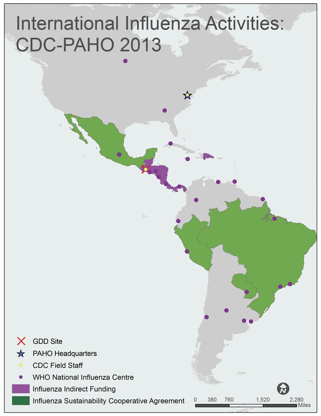 PAHO Pan American Health Organization region map