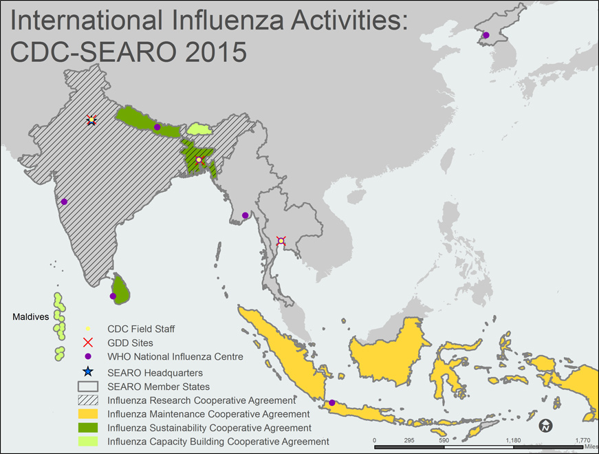who south east asia region sear map