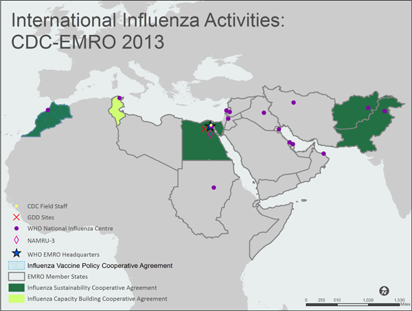 EMRO Eastern Mediterranean Region map