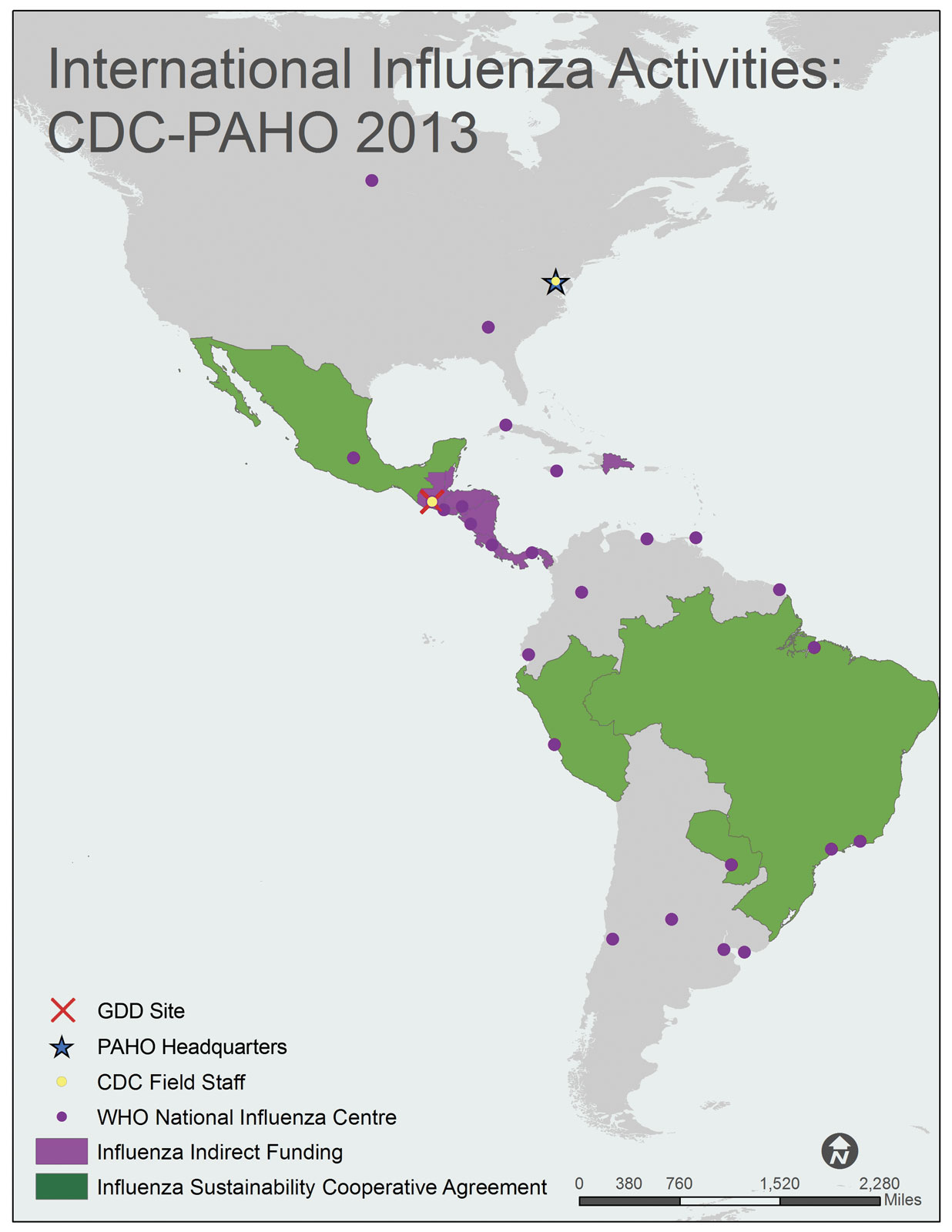 PAHO Pan American Health Organization region map