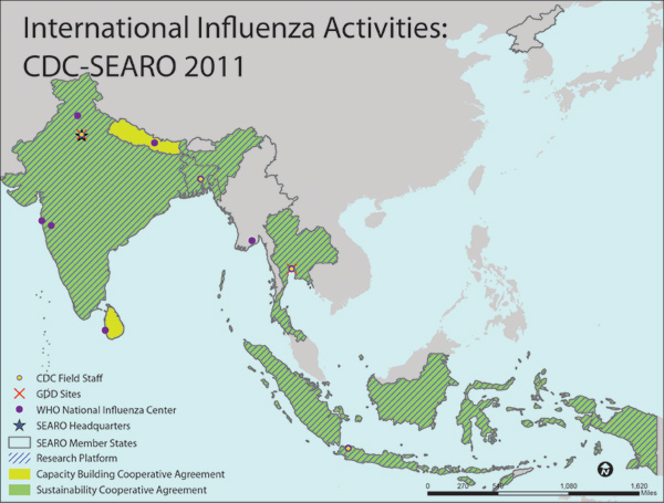 SEAR South-East Asia Region map