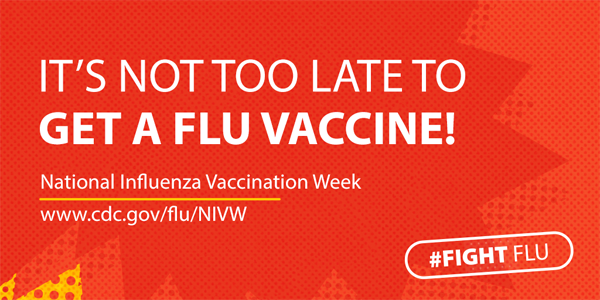 It's not too late to get a flu vaccine!