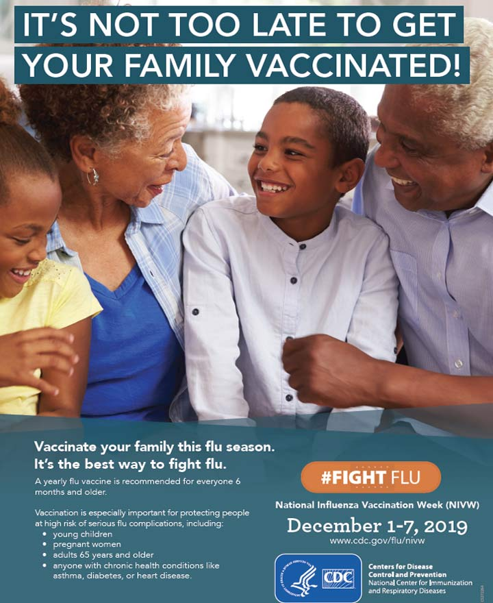 It's not too late to get your family vaccinated!
