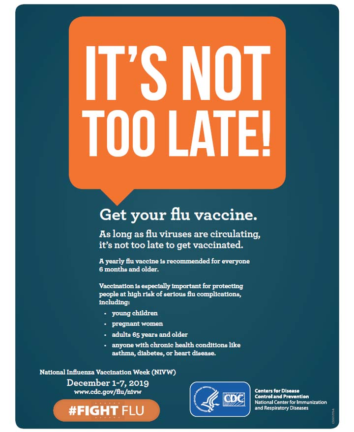 It's not too late! Get your flu vaccine.
