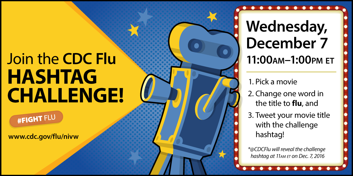 NIVW Hashtag Challenge: Wednesday, December 7 from 11:00 am to 1:00 pm ET