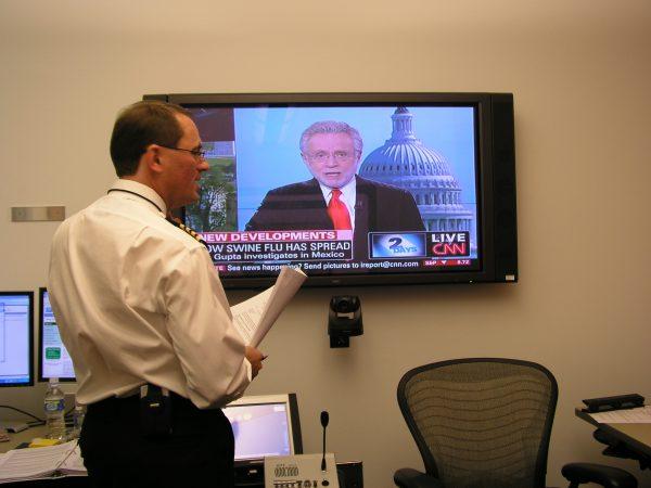 Rueda de prensa televisada de los CDC