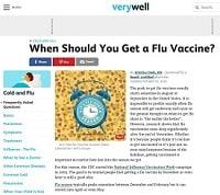 Imagen de pantalla: Kristina Duda de Verywell.com Cold and Flu, embajadora digital de la influenza estacional