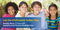 The Kid's Doctor and CDC Talk #FluFreeKids on Twitter