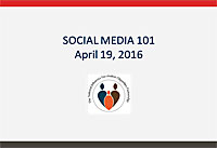 Social Media 101 - A Webinar Presented by: Alfonso Pernía, Natacha Ginocchio, and Jeannine Hunter