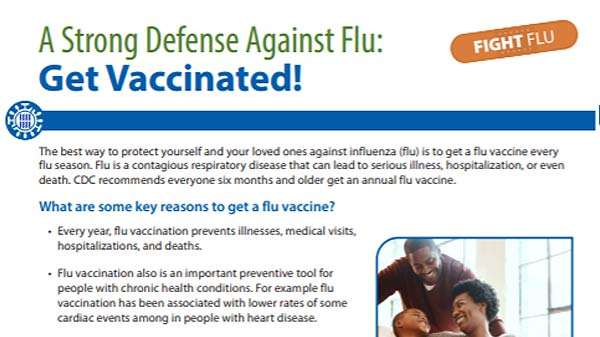 una defensa fuerte contra la influenza