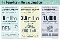 The Benefits of Flu Vaccination 2015-2016 Infographic