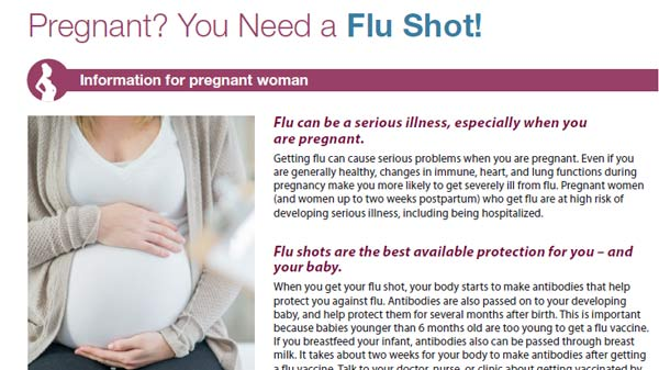 pregnant? you need a flu shot