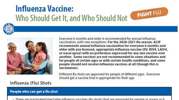 imagen del pdf de Vacuna contra la influenza: quiénes deberían y quiénes no deberían vacunarse