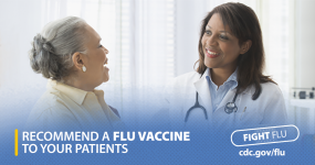 Recomiende a sus pacientes que se vacunen contra la influenza
