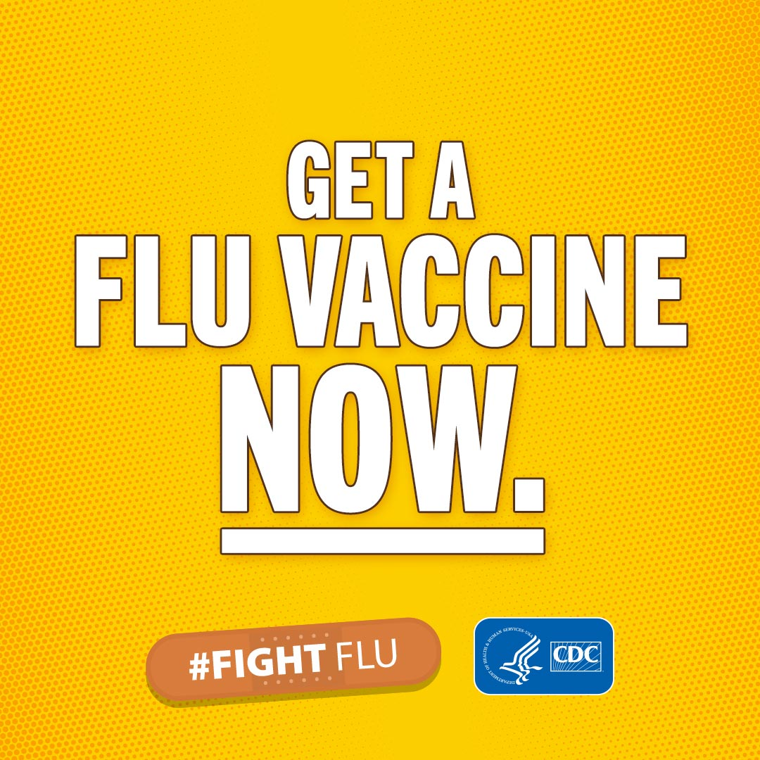 Get A Flu Vaccine Now! #fightflu
