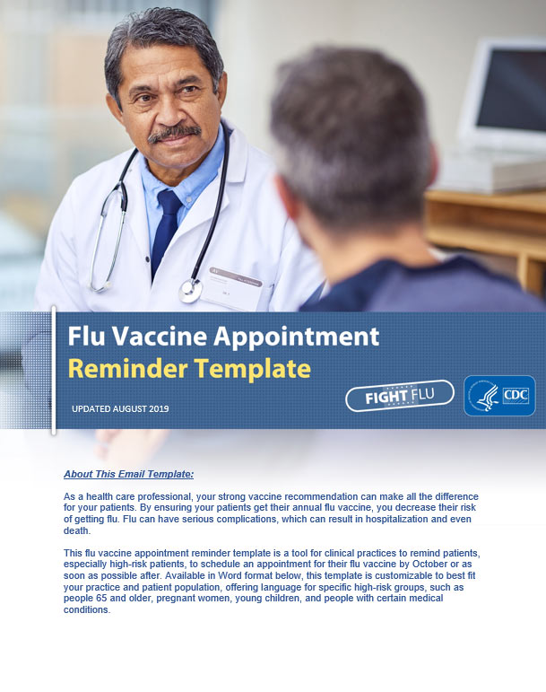 Flu Vaccine Appointment Reminder Template