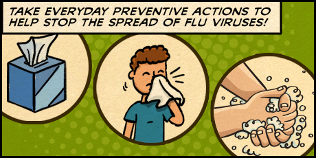 Infographic: Take everyday preventative actions to help stop the spread of flu viruses!