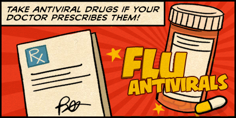 Infographic Take antiviral drugs if your doctor prescribes them