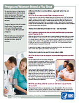 Pregnant women and the flu shot fact sheet.