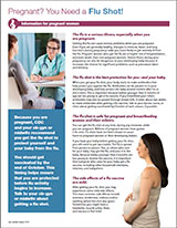 Las embarazadas y la vacuna contra la influenza: hoja informativa.