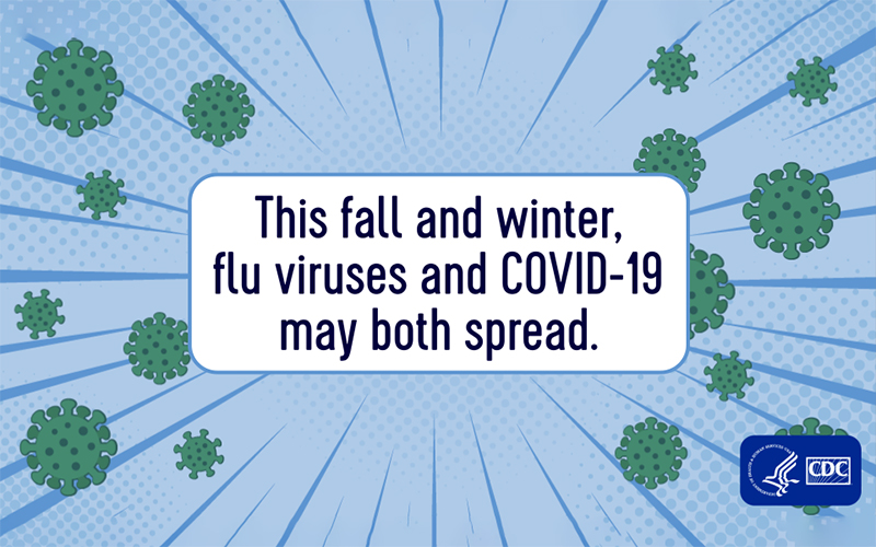 This fall and winter, flu viruses and COVID-19 may both spread