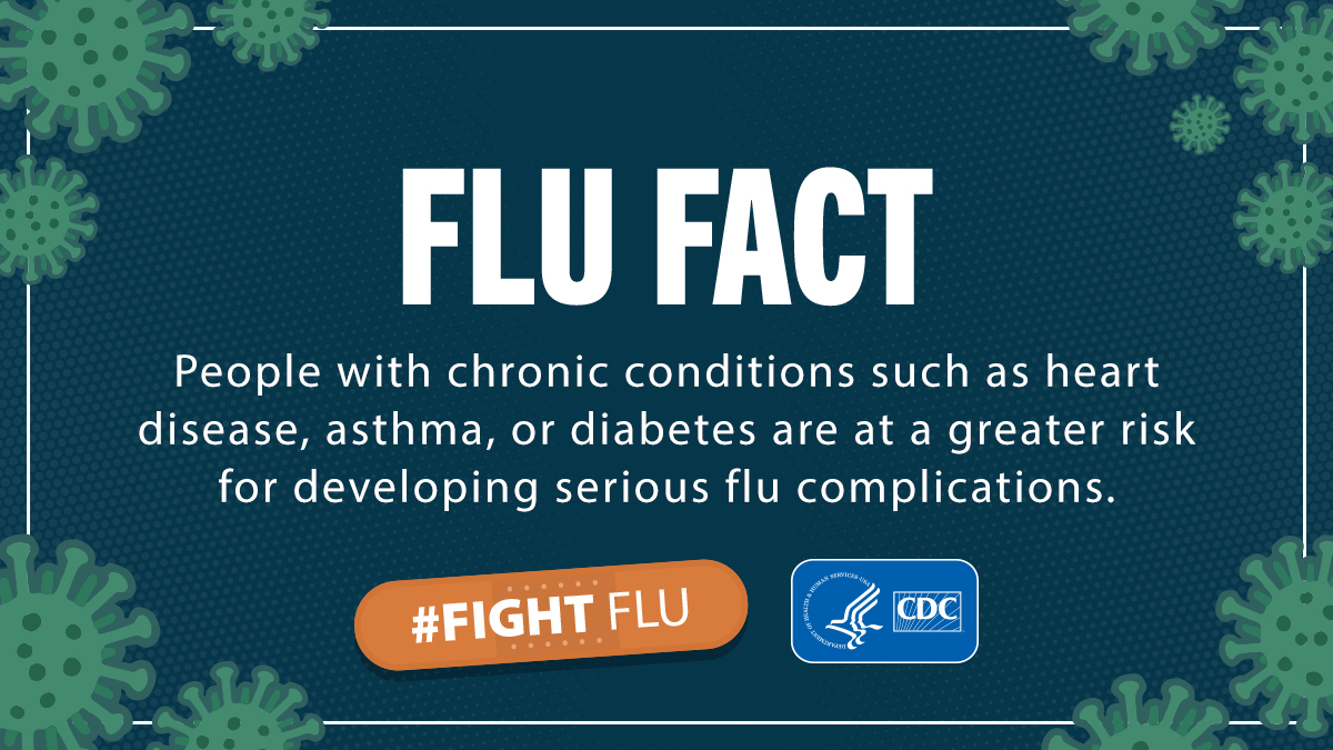 Flu greater risk complications, certain chronic conditions