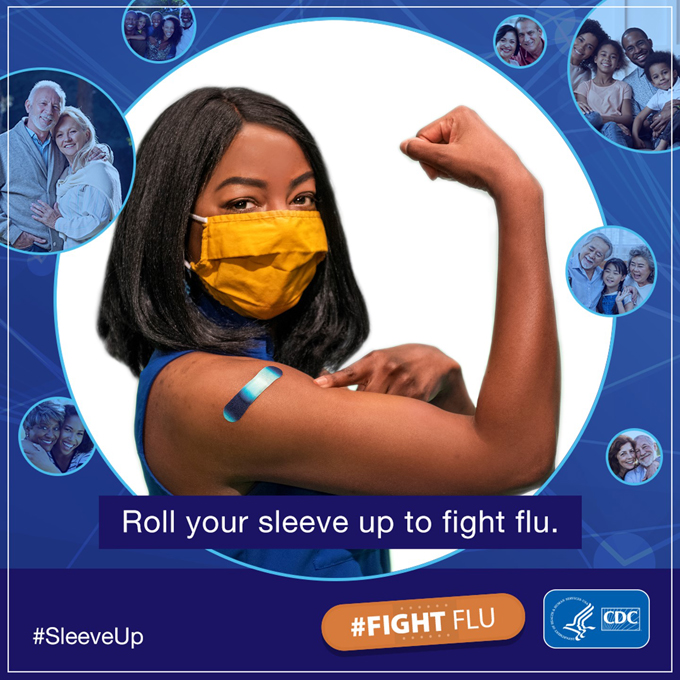 Roll your sleep up to fight flu.