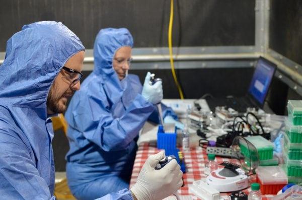 Prueba portátil de detección de la influenza
