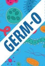 """texto """"germ-o"""" sobre un fondo colorido"""