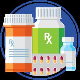 ícono de envases de pastillas