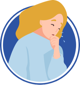 icon of woman coughing into her hand