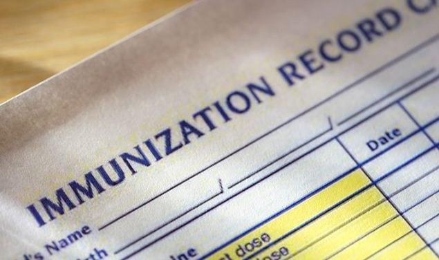 un registro de inmunizaciones