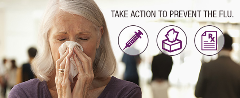 Flu activity is widespread in most of the U.S. Take action to prevent flu!