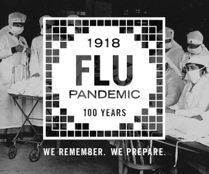 1918 Pandemic Flu Badge