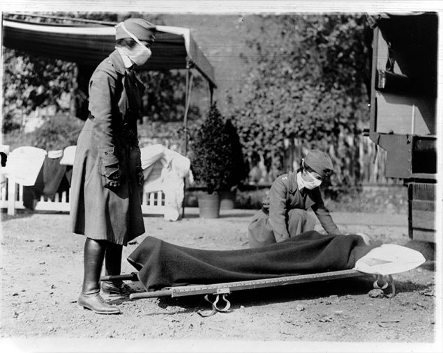 Ambulance demo with two Red Cross nurses