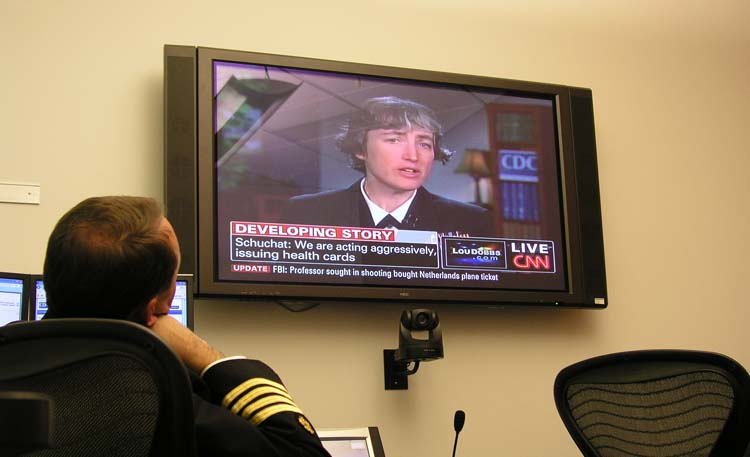 Dr. Anne Schuchat appears on CNN to provide updates on the response to the 2009 H1N1 pandemic