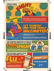 Afiche de Combatala influenza para imprimir