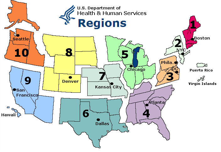 WHO/NREVSS Regional ILI in US map