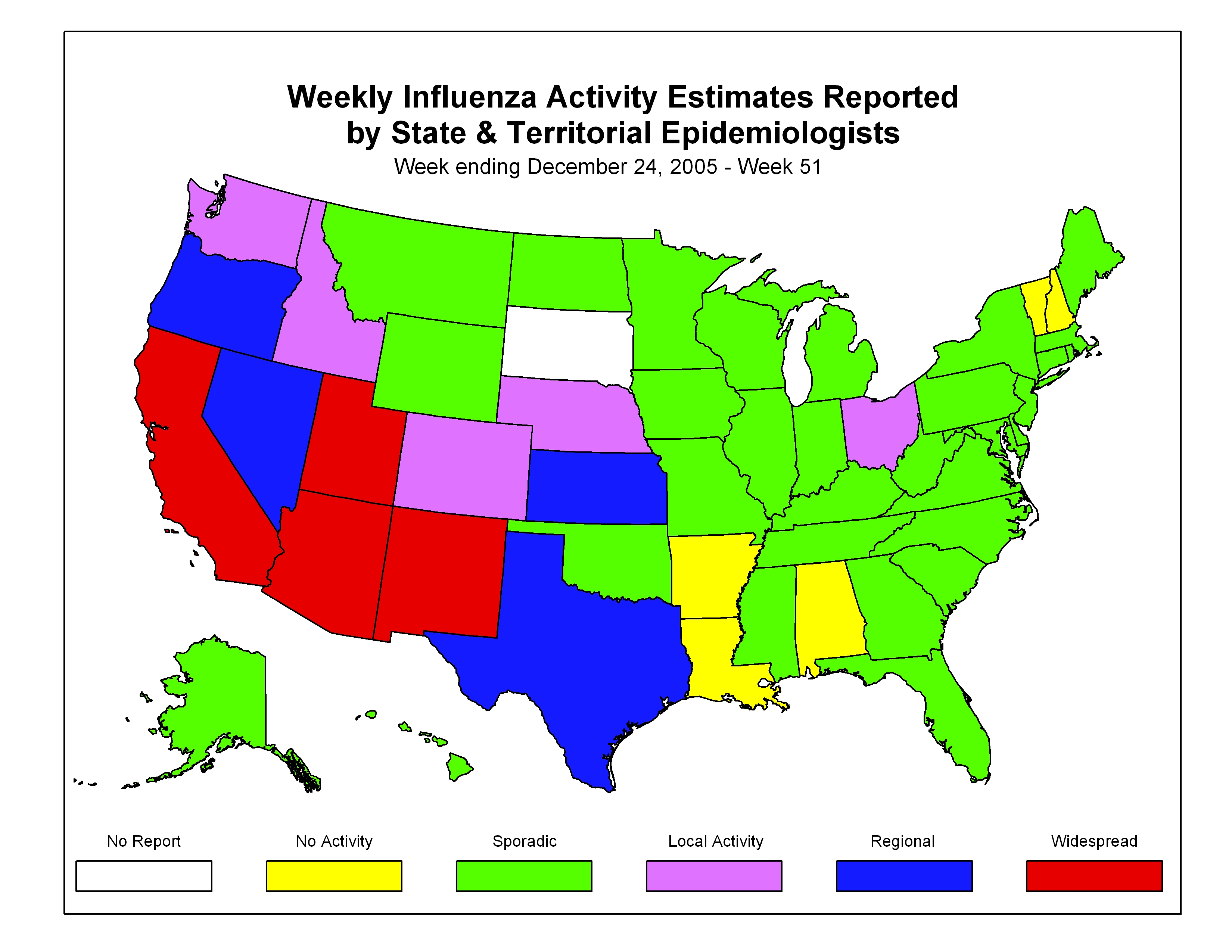 CDC Influenza Flu Weekly Report Influenza Summary Update - Weekly us map flu 210