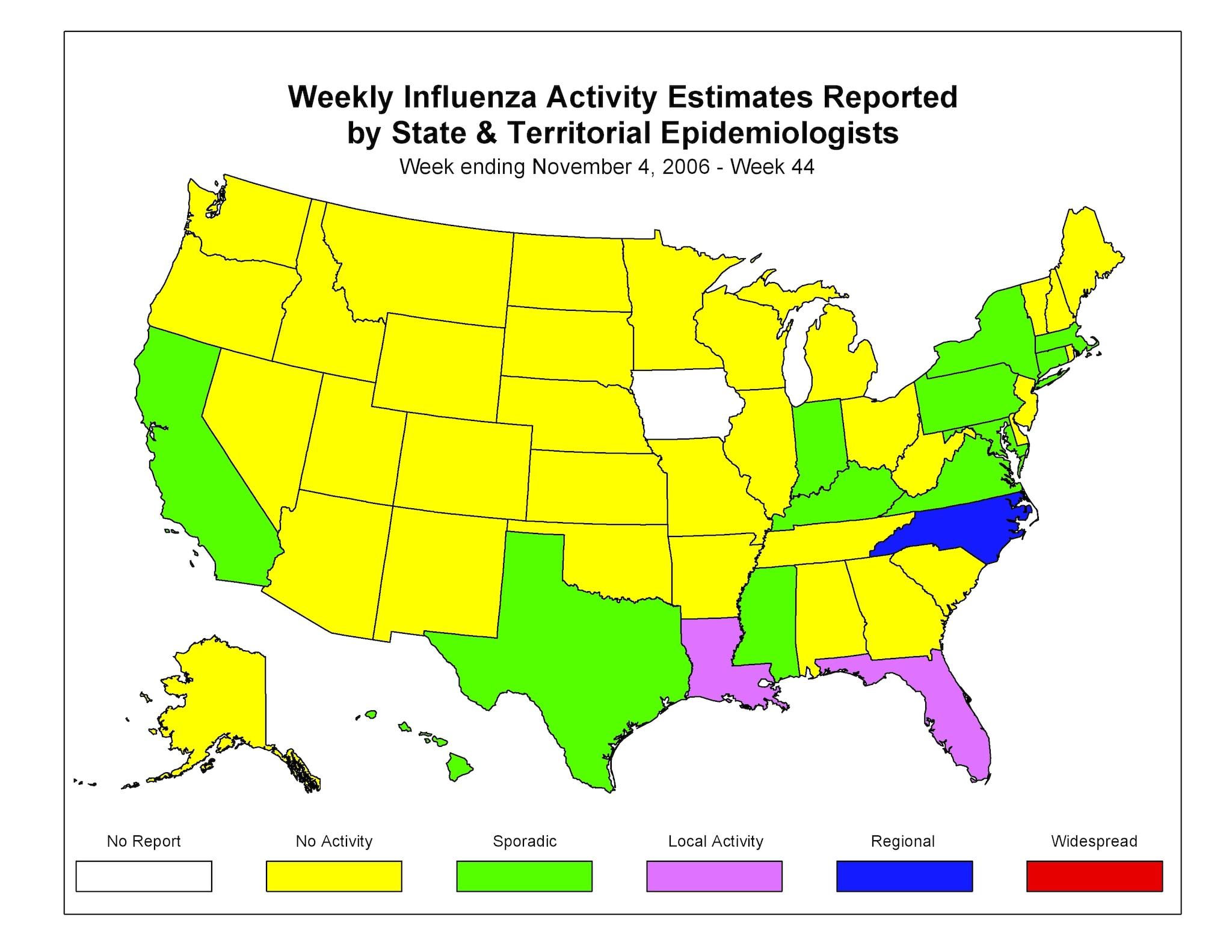 CDC Influenza Flu Weekly Report Influenza Summary Update