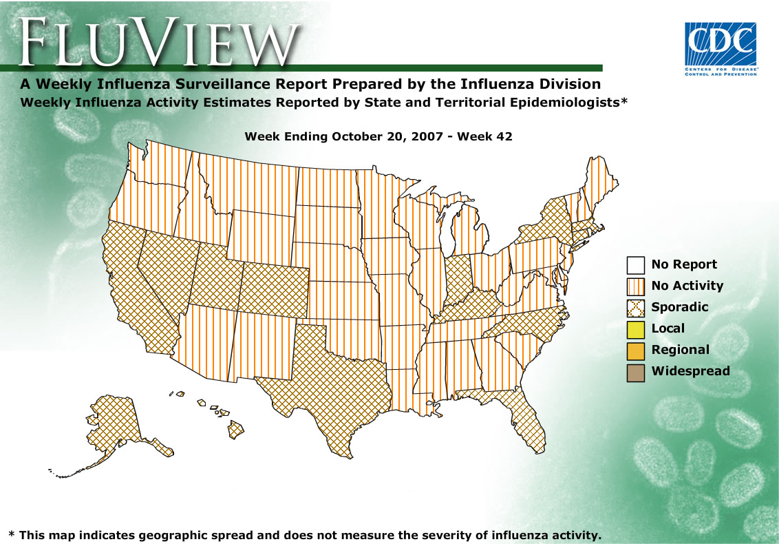 WEEK 42, 2007 FLU MAP NOT PRESENT ON SERVER