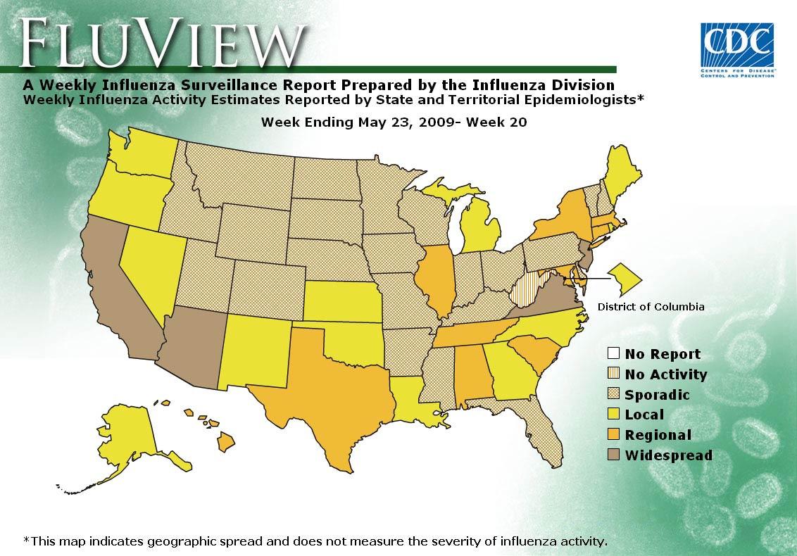 WEEK 20, 2008 FLU MAP NOT PRESENT ON SERVER