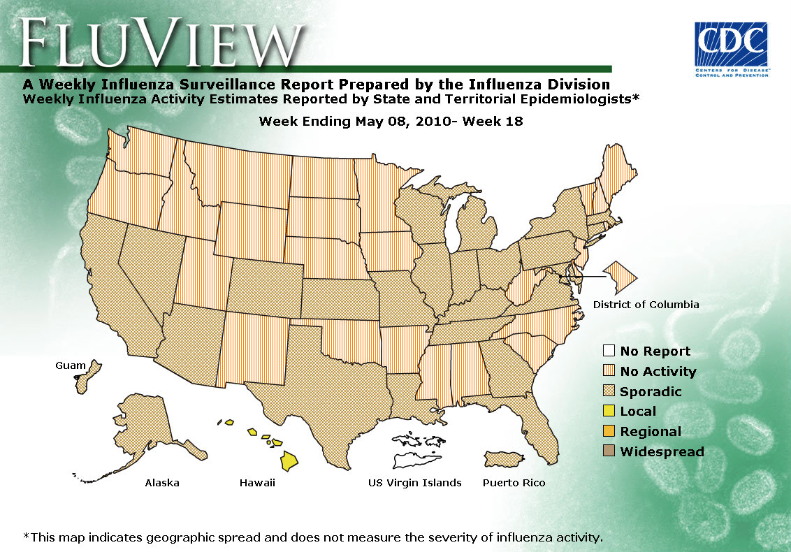 WEEK 18, 2009 FLU MAP NOT PRESENT ON SERVER