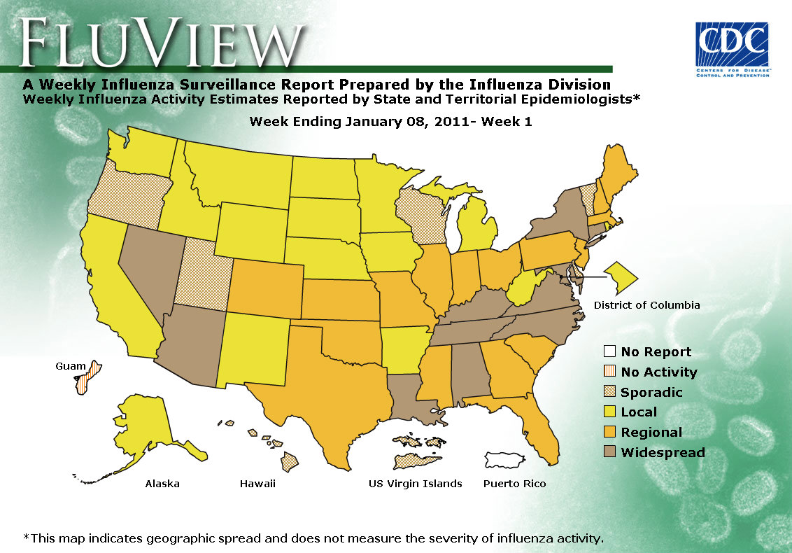 WEEK 1, 2010 FLU MAP NOT PRESENT ON SERVER