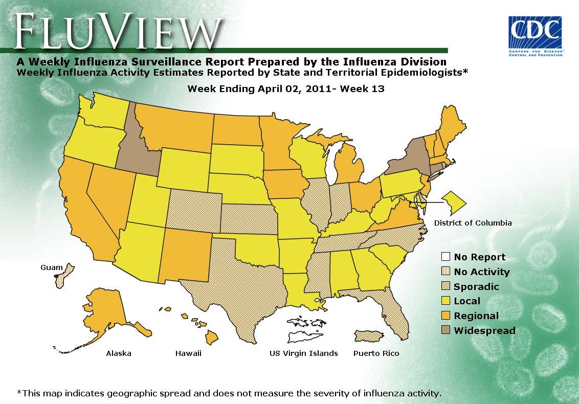 WEEK 13, 2010 FLU MAP NOT PRESENT ON SERVER