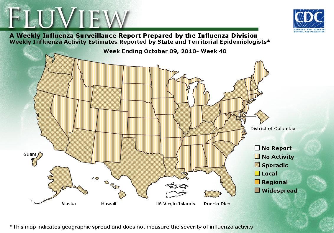 WEEK 40, 2010 FLU MAP NOT PRESENT ON SERVER