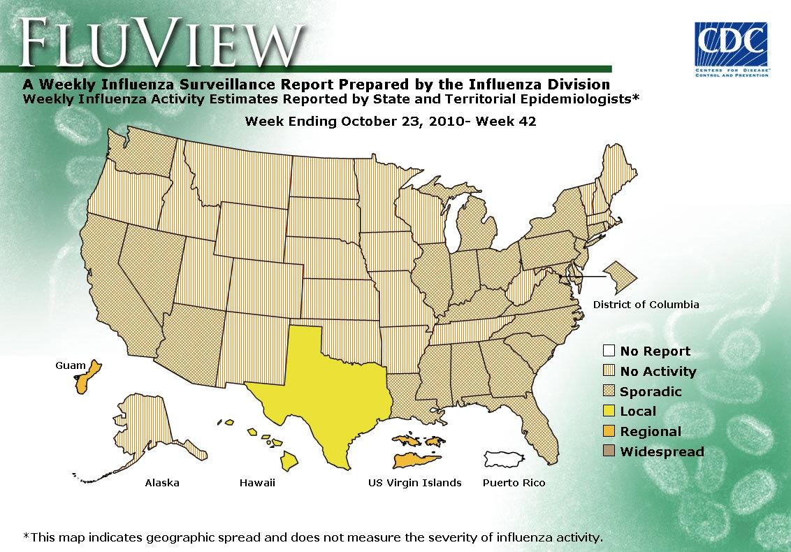 WEEK 42, 2010 FLU MAP NOT PRESENT ON SERVER