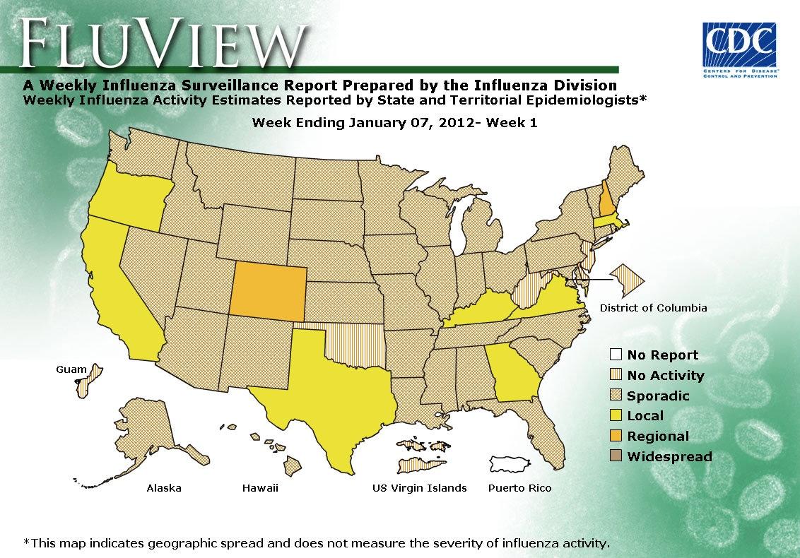 WEEK 1, 2011 FLU MAP NOT PRESENT ON SERVER